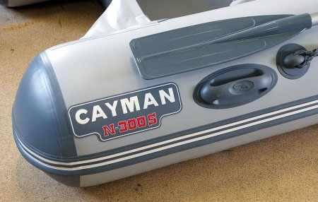 Торцы баллонов на лодках Кайман серии S
