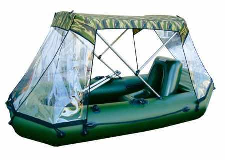 Лодка «Двина 22» с надувным креслом и стояночным тентом