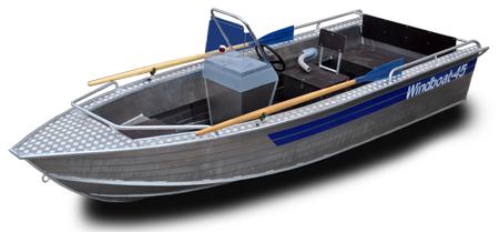 Лодка «Windboat 45с» title=