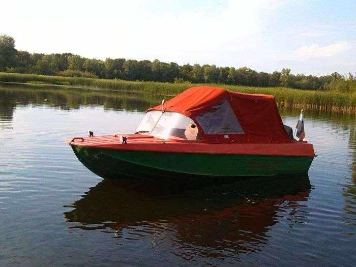 Лодка «Казанка 5м4» с тентом