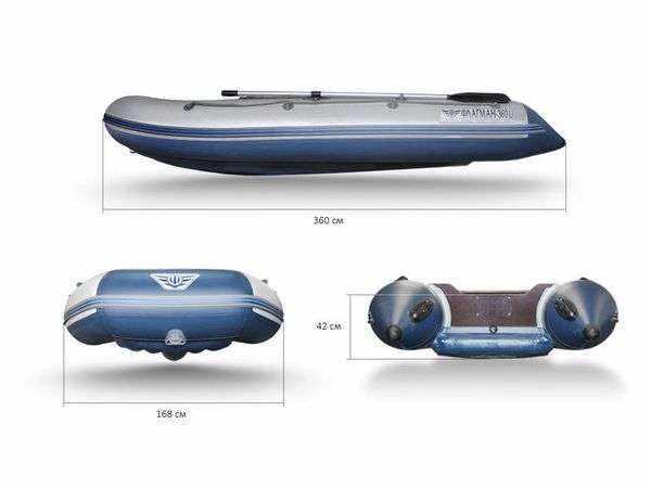 Лодка Флагман 360U: размеры