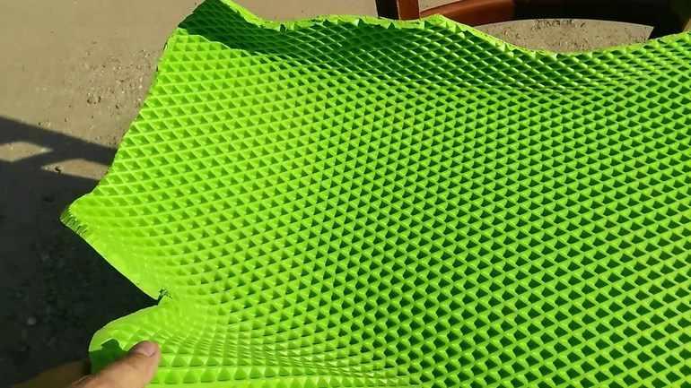 Подгонка коврика ЕВА по размеру
