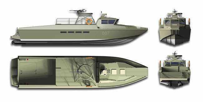 Патрульный катер ВМФ «Раптор» проекта 03160