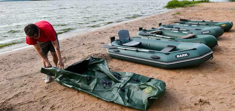 Быстрый и комфортный перенос надувной лодки