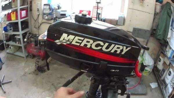 Двухтактный лодочный мотор Меркурий 3.3 л.с.