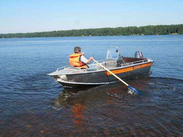 Алюминиевая лодка Вельбот