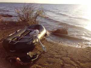 мотор Парус 3.5 на лодке